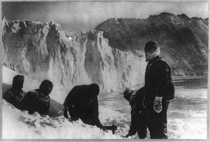 Photograph from one of Shackleton's expeditions to the Antarctic.