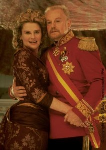 The Happy Couple: Gertrude (Julie Christie) and Claudius (Derek Jacobi) from Kenneth Branagh's 1996 film.