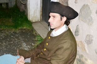 Eric plays a layabout in 18th century Louisbourg.