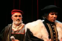 John plays Shylock in The Merchant of Venice.